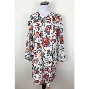Old Navy Floral Long Sleeve Tie Neck Shift Dress